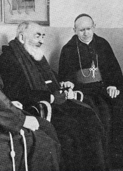 Padre Pio with Archbishop Tortolo