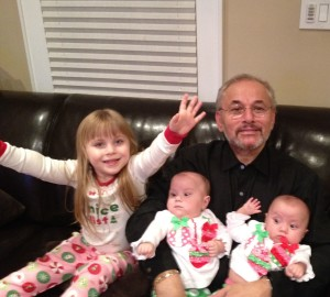 Mr. Raffaele Ferraioli with his granddaughters, Taylor, Alexa and Paige