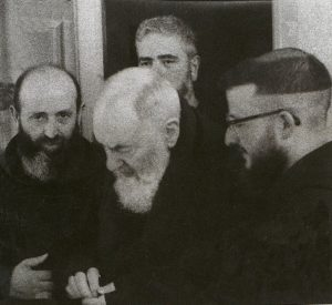 A photo of Brother Modestino Fucci (on left) and Padre Pio. The two shared a close friendship for twenty-eight years until Padre Pio's death in 1968