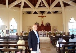 Mario Bruschi in the St. Padre Pio church and shrine in Sri Lanka