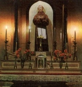 The beautiful altar of St. Francis where Padre Pio celebrated Mass for many years.