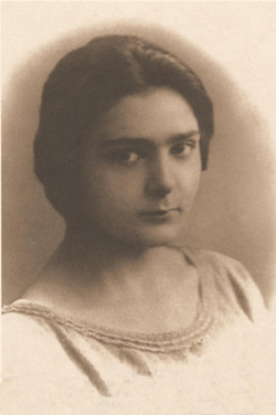 A photo of Giovanna Rizzani when she was eighteen years old.