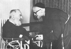 Photo of Father Alberto D'Apolito & Padre Pio in 1957.