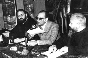 A photograph of Giovanni Gigliozzi (center).