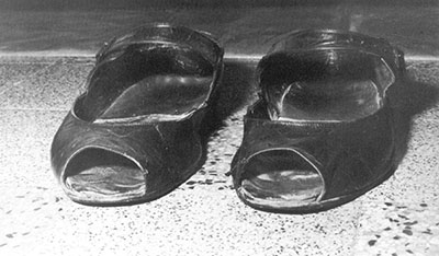 Padre Pio wore specially made shoes of soft leather with the top cut out because of the pain in his feet.